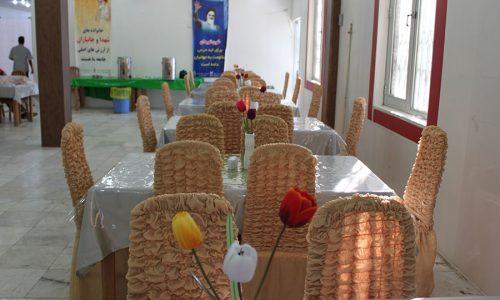 سالن غذاخوری موسسه فرهنگی ورزشی و توانبخشی ایثار شعبه خوزستان
